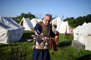 An archer from Legio I Italica prepares for a battle with Caledonian barbarians