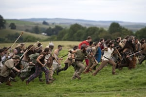 The Caledonian Barbarians run towards the Imperial Roman Army