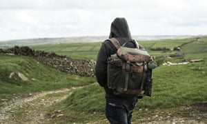 a contestant hikes across country in Hunted