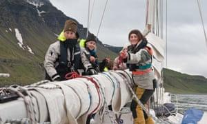 Skipper Rachael Sprot (right)