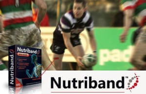 A testosterone-fuelled advert for Nutriband patches.