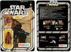 A Jawa figure in vinyl cape, even with part of the packaging crushed, sold for £10,200 in 2013