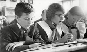 Soviet school uniforms, 1960s.