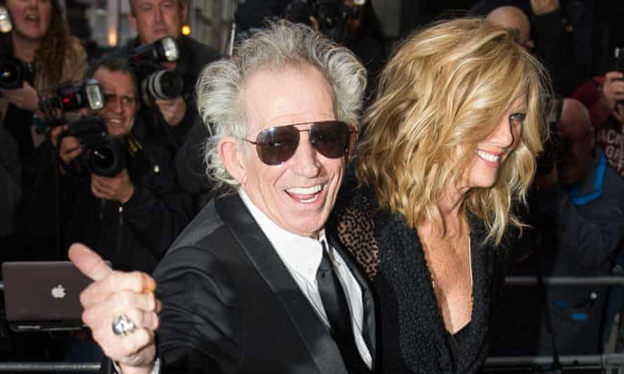 Keith Richards and Patti Hansen at the GQ men of the year awards.