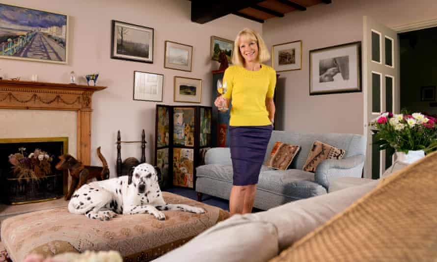 Jilly Goolden in her Sussex home where she runs  wine-tasting experiences.