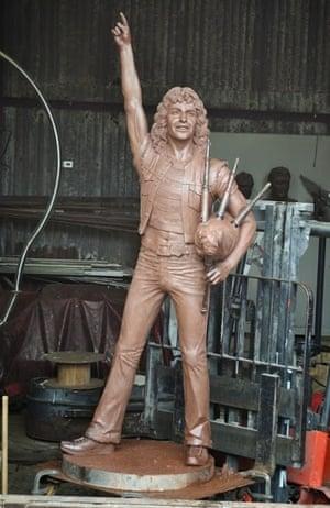 John McKenna's design for Kirriemuir's crowdfunded Bon Scott statue.