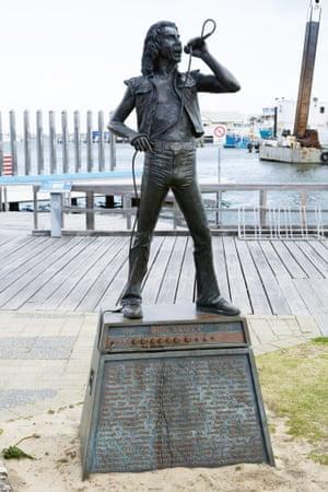 Former AC/DC front man Bon Scott in Fremantle, Perth, Western Australia