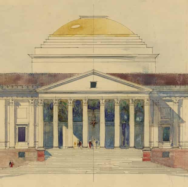 Edwin Lutyens's Palladian-influenced design for the Viceroy's House, New Delhi, 1912.