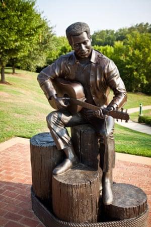 Soul singer-songwriter Otis Redding, Gateway Park Macon, USA