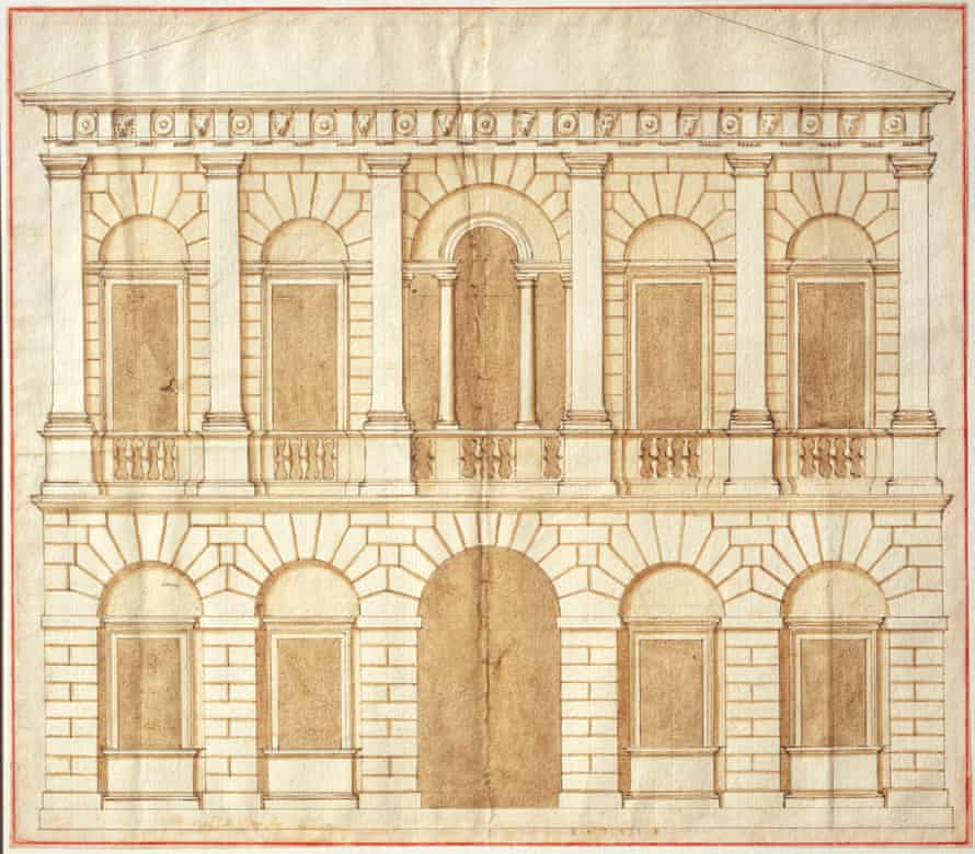Design for a palace by Andrea Palladio, c.1540s.