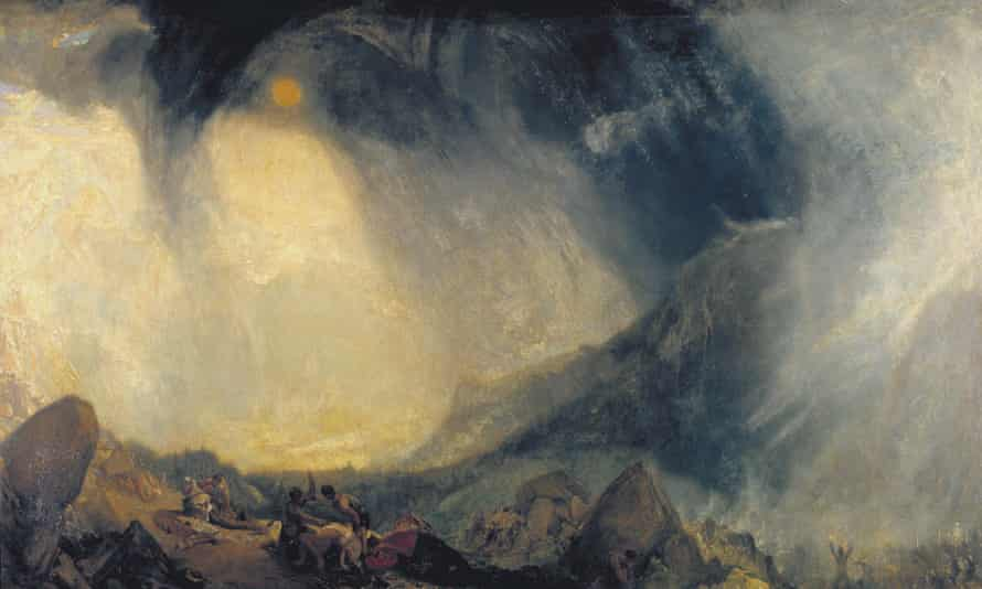 JMW Turner's 'Snow Storm: Hannibal and his Army Crossing the Alps'. Photograph: Tate