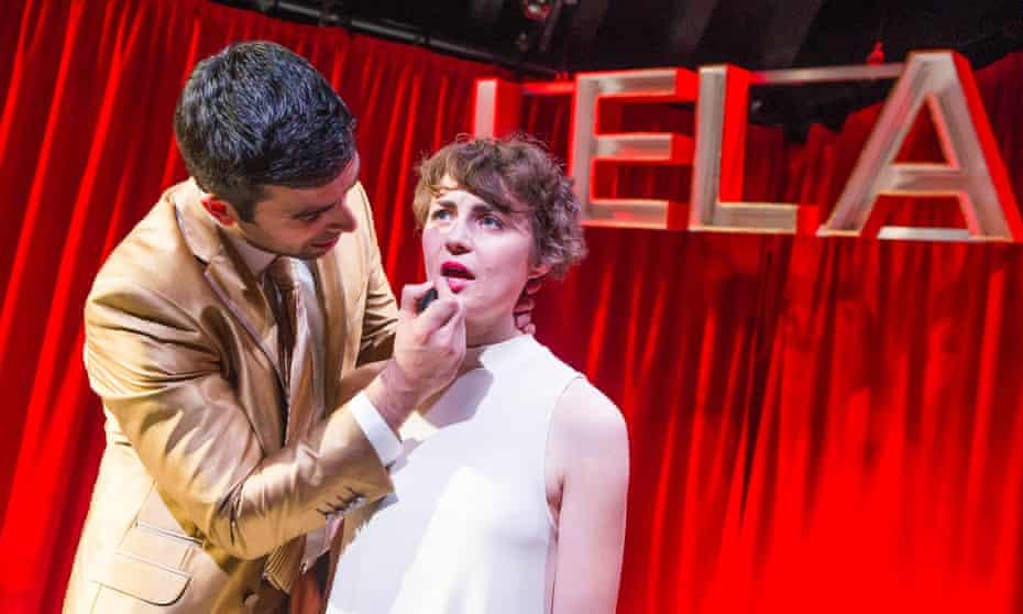 Harrowing … Katie West as Lela and David Mumeni as Man in Lela & Co at the Royal Court Upstairs, London.