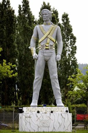 A 12 metre high Michael Jackson in Regensdorf near Zurich, Switzerland