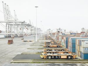 Containerterminals, Port of Rotterdam, Netherlandsn