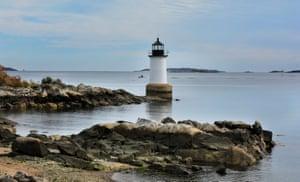 The rocky coast of Salem, Massachusetts.