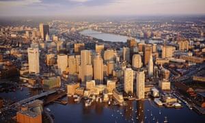 Boston harbour and skline