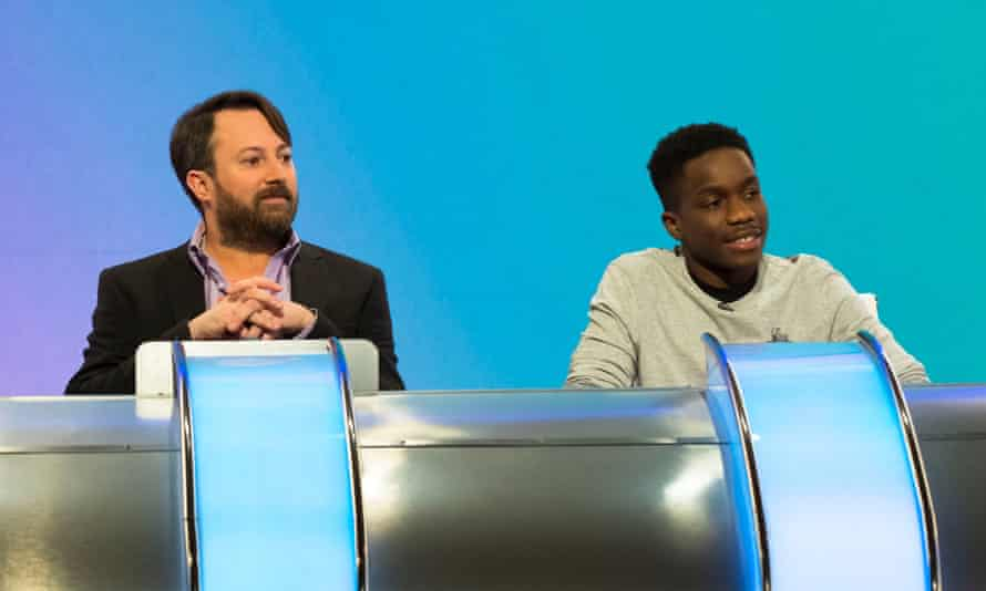 Team captain David Mitchell with Tinchy Stryder on Would I Lie to You?