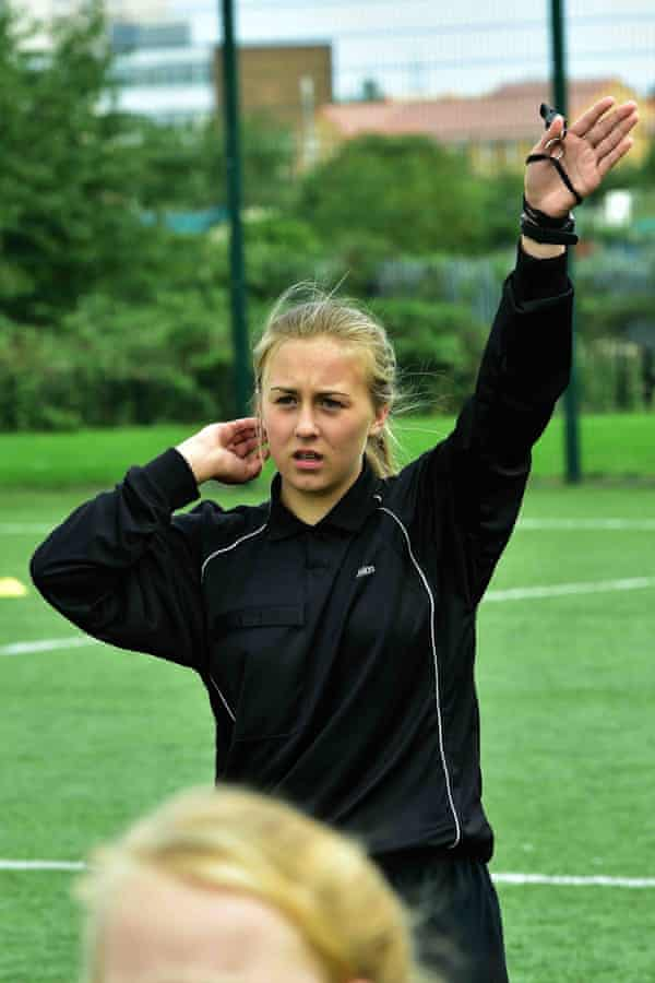Referee Emily Dyke, 14, who complained of abuse from parents during matches