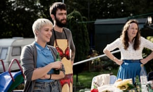 Vicky McClure as Lol, a dinner lady, and Joe Gilgun as Woody in This is England '90.