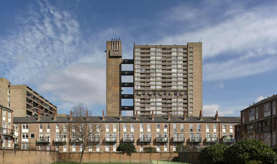 Balfron Tower and the Brownfield estate in POplar, east London.