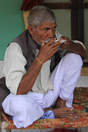 Hanubhai Jadav, one of the 56 protesting farmers in Dholera