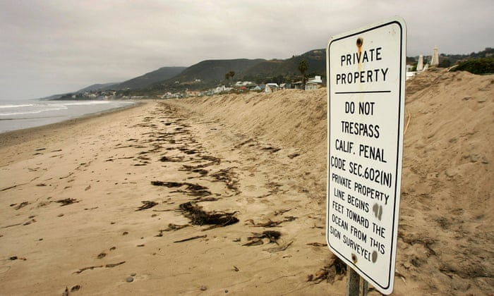 64b1c05971 Malibu's celebrity homeowners try to block public beach use | US news | The  Guardian