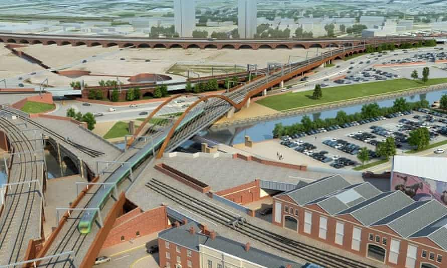 The Ordsall Chord railway link proposed by Network Rail.