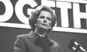 Margaret Thatcher delivers her 'lady's not for turning' speech at the 1980 Tory conference.
