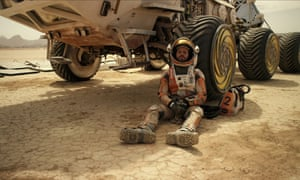 'For a survival flick it's actually pretty light on peril, but it's not short of thrills' ... Matt Damon in The Martian.