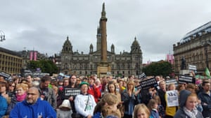 Hundreds of people gather in Glasgow