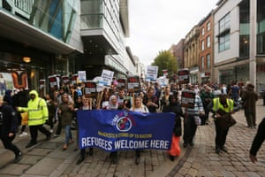 Marching through Manchester