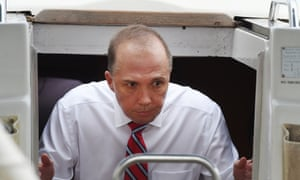 Peter Dutton said he made the remark about 'water lapping at your door' lightheartedly and meant no offence.