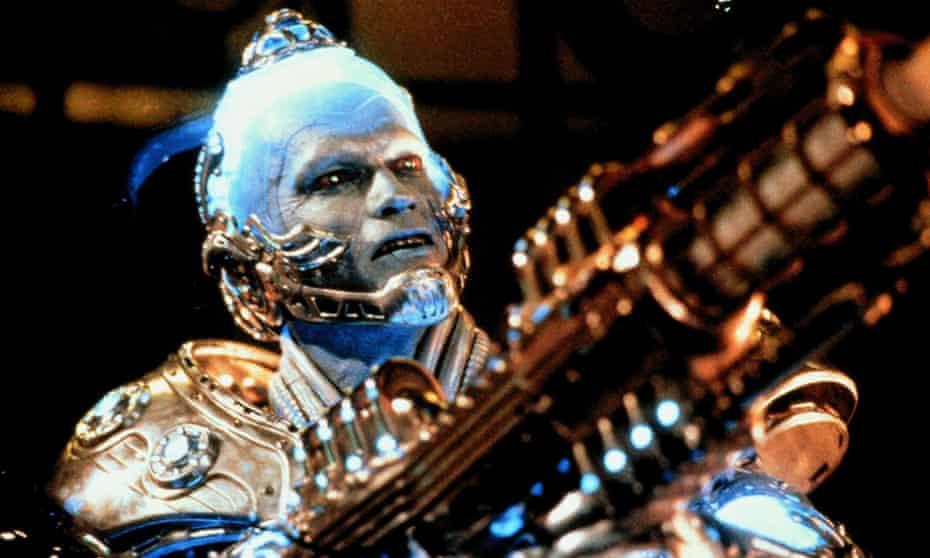 Arnold Schwarzenegger as supervillain Mr. Freeze in Batman & Robin.