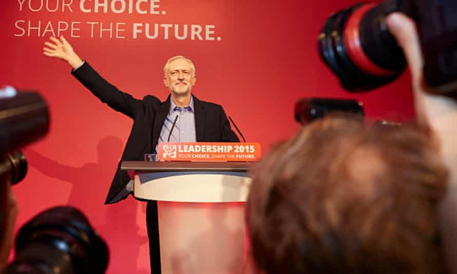 Jeremy Corbyn at the Queen Elizabeth conference centre