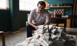 Cash flow …Wagner Moura as Pablo Escobar.