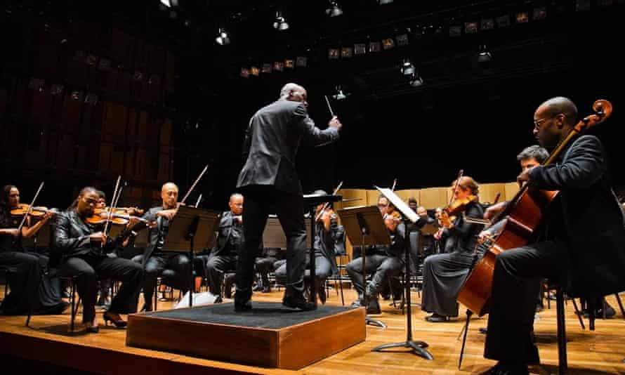 Wayne Marshall conducts Chineke! at the Southbank Centre, London.