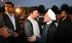 Hassan Khomeini with Rouhani