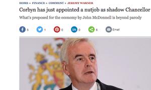 The Telegraph's original headline on its John McDonnell story