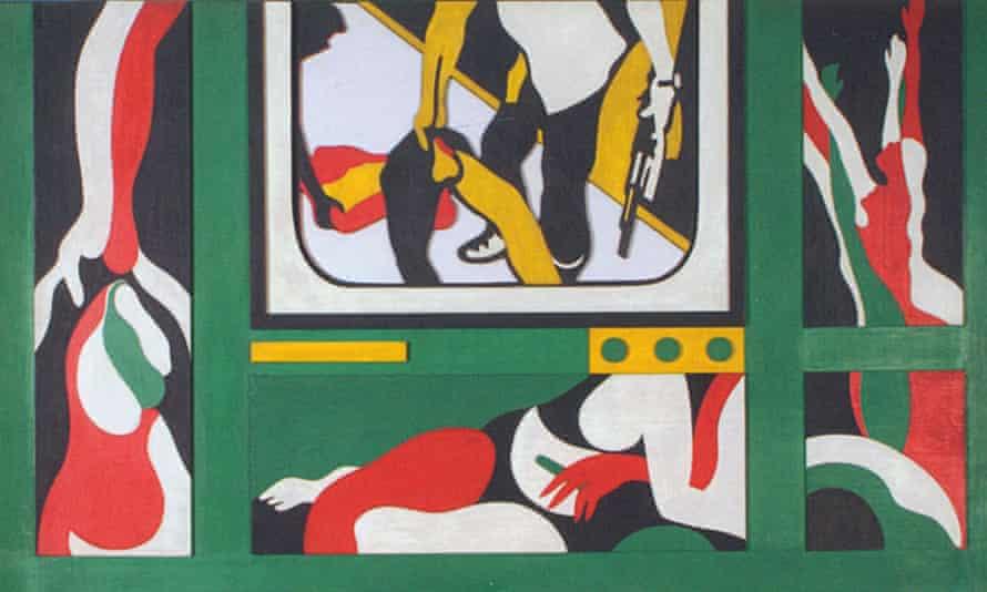 Morrem Tantos Homes e Eu Tao Aqui So (Vietnam series), 1968, by Teresinha Soares.