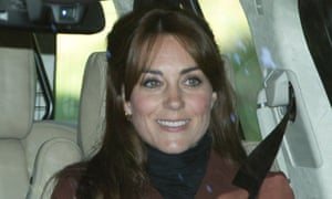Fringe benefits … Kate Middleton with her new haircut