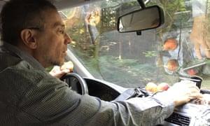 Hans Breuer, behind the wheel