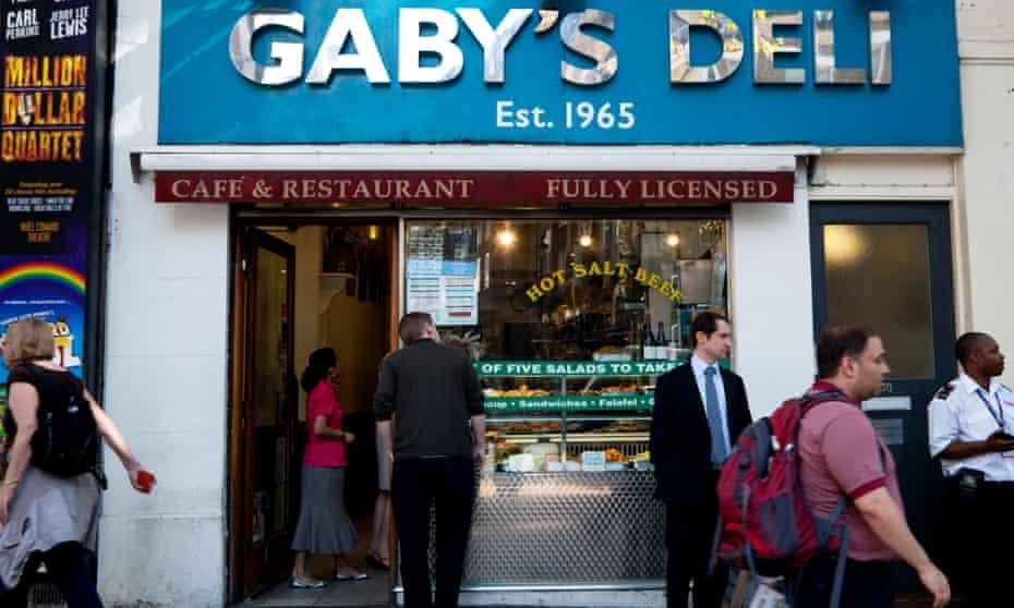 Gaby's Deli on Charing Cross Road, London
