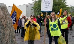 Prospect members on strike