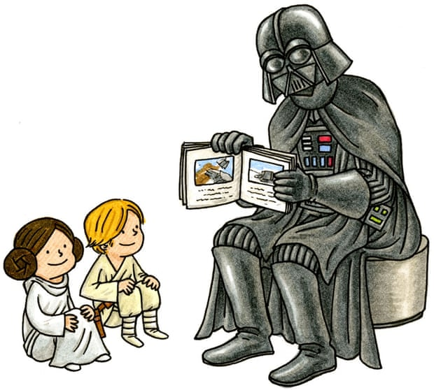 Vader with kids