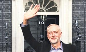 Prime minister Corbyn enters No 10.