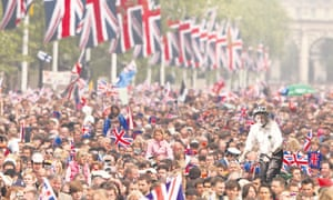 Jeremy makes his way through the cheering crowds to his meeting at the palace.