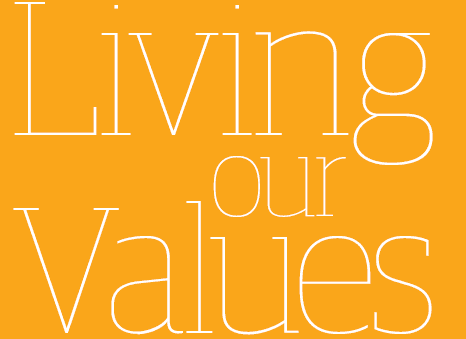 How does the Guardian live its values?