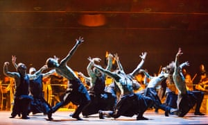 Dancers from the Hofesh Schechter company; the choreographer also co-directs.