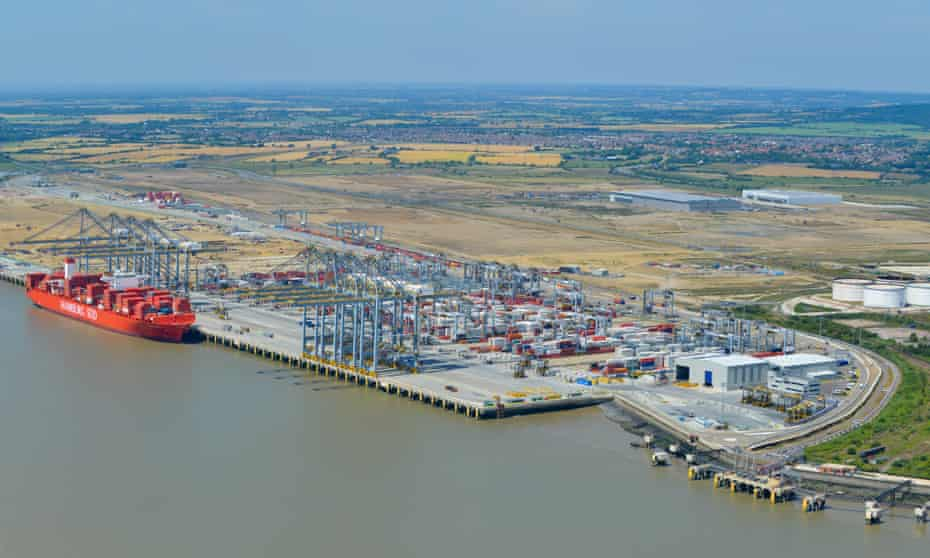 The site at Tilbury, Essex: two berths are complete, with four more in progress.