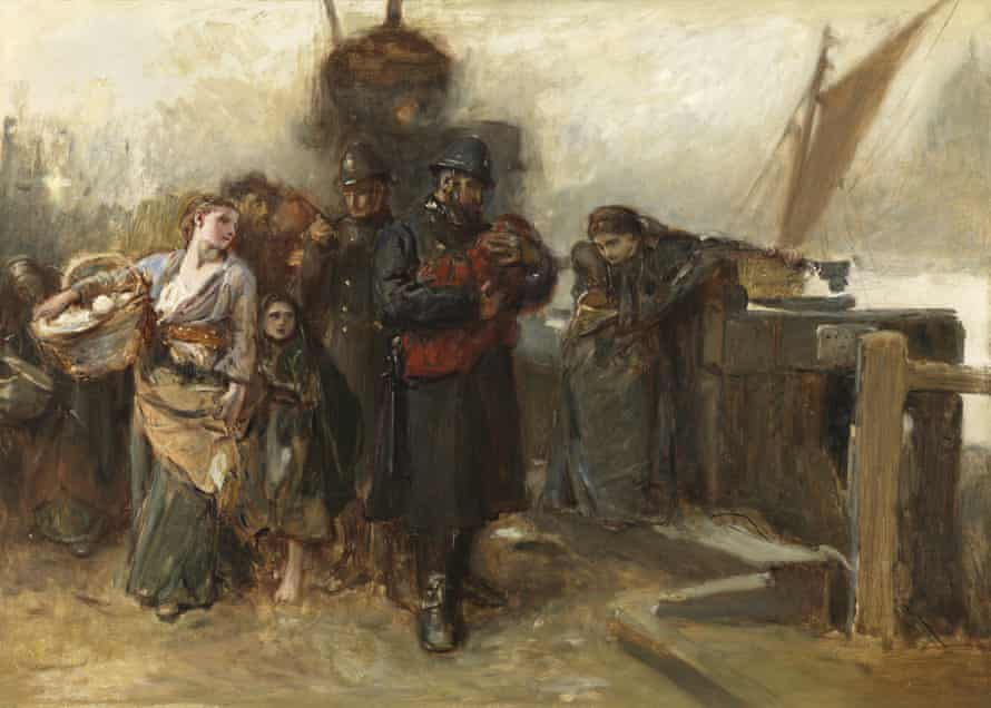 Deserted – A Foundling by Frank Holl (1873) at the Fallen Woman exhibition at the Foundling Museum.